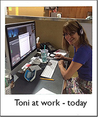 Toni at work today